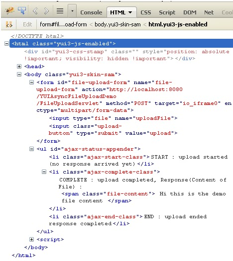 async-file-upload-servlet-response-debugger - Tutorial