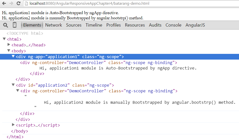 Auto and Manual Bootstrapping AngularJS Application